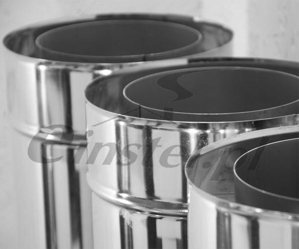 Rura komina izolowanego składa się z warstwy wewnętrznej kwasoodpornej, izolacji z maty ceramicznej oraz płaszcza ze stali nierdzewnej