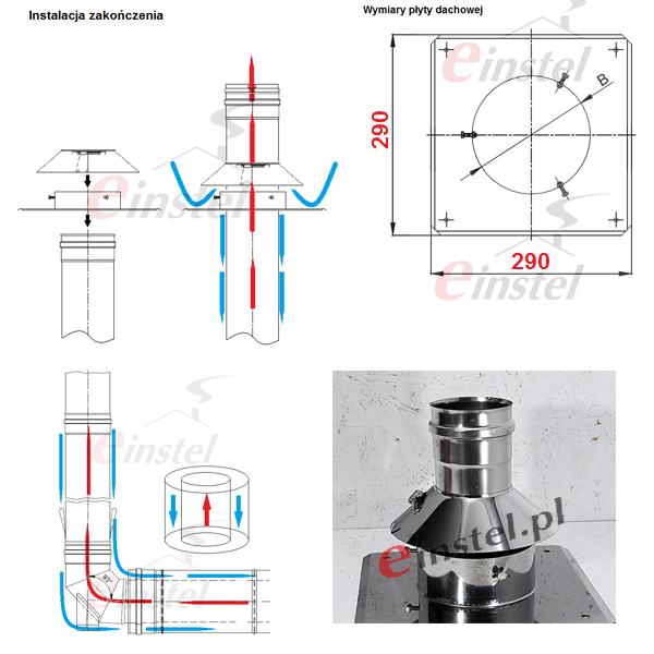 Montaż komin do kotła kondensacyjnego, komin w najlepszej cenie, komin kwasoodporny do gazu