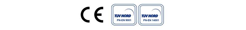 Certyfikaty MK Żary CE TUV